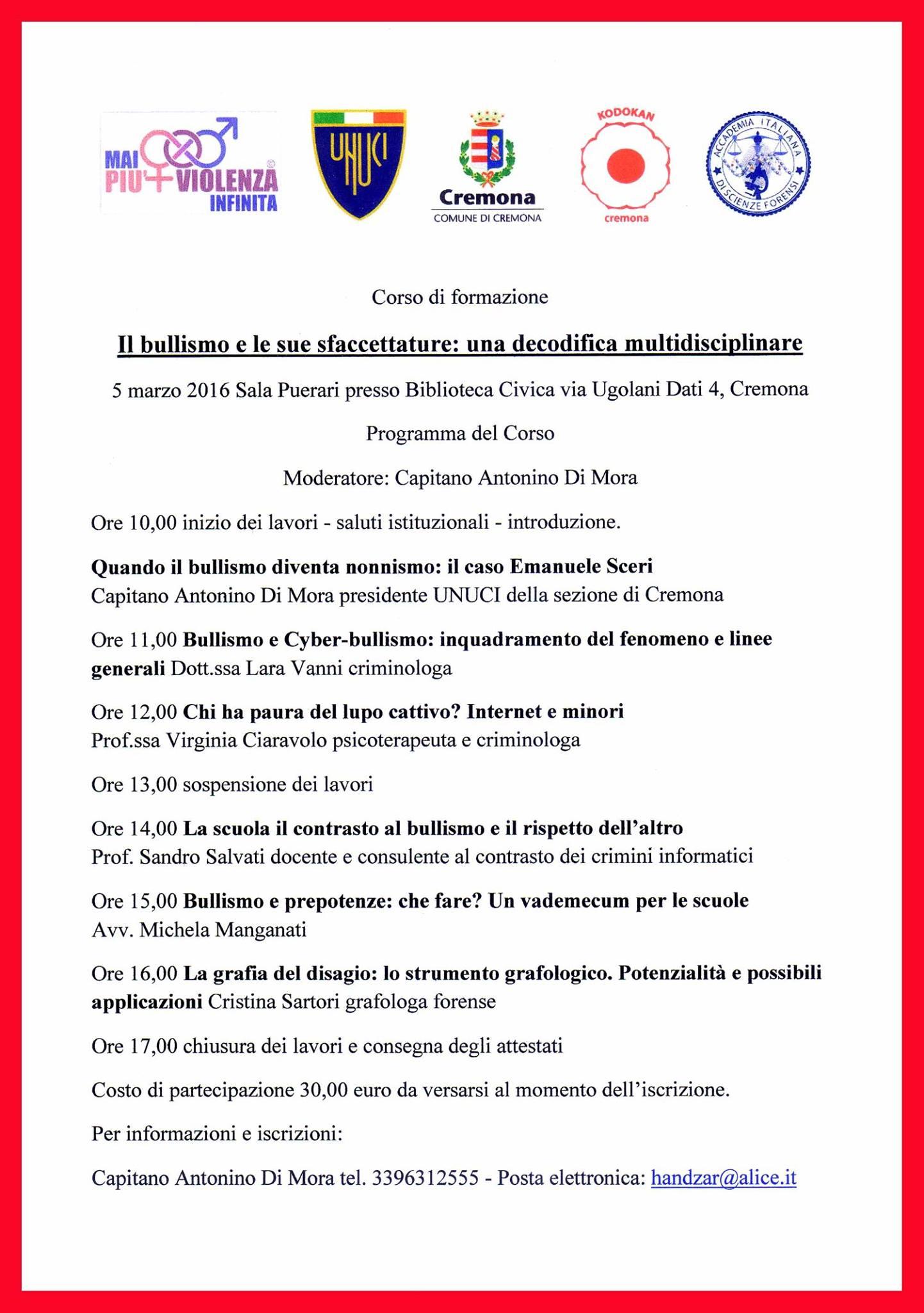 Convegno Cremona 5 Marzo 2016