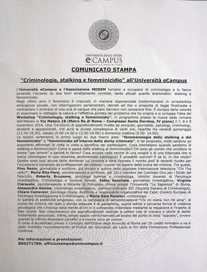 Roma 7 Novembre 2014